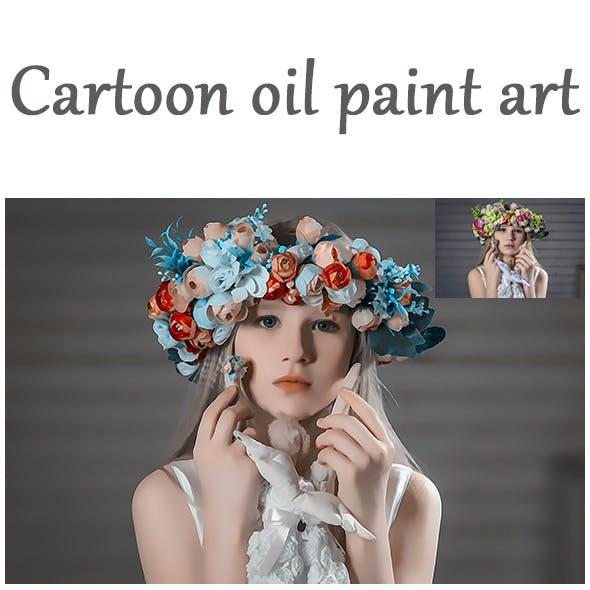 Oil Paint Art Action
