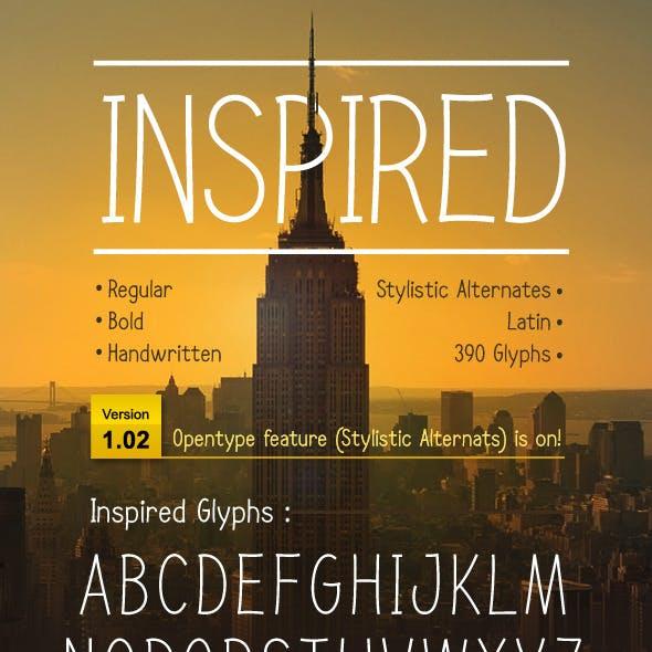 INSPIRED font
