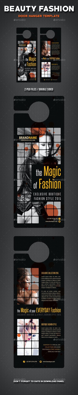 Beauty Fashion Door Hanger V5 - Miscellaneous Print Templates
