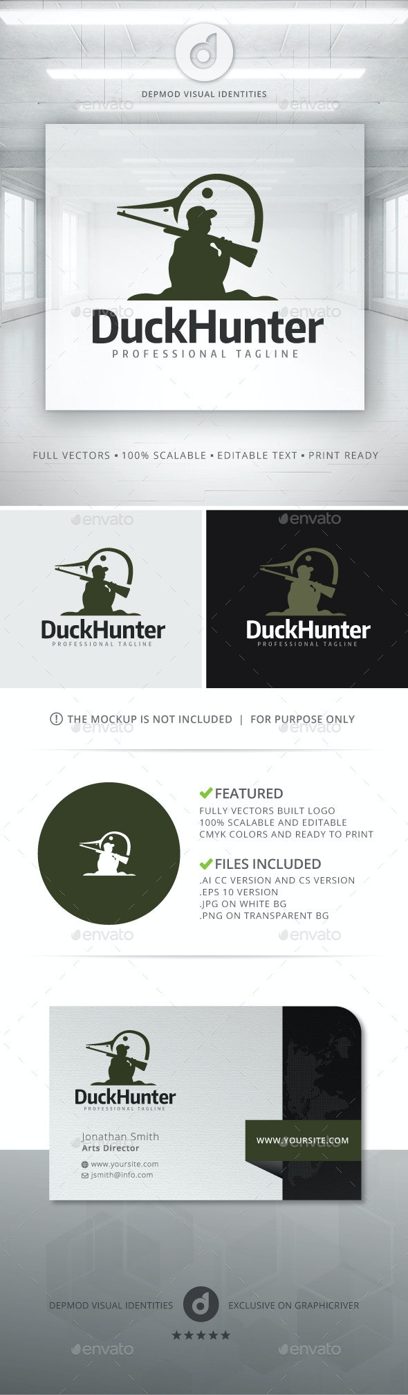 Duck Hunter Logo - Humans Logo Templates