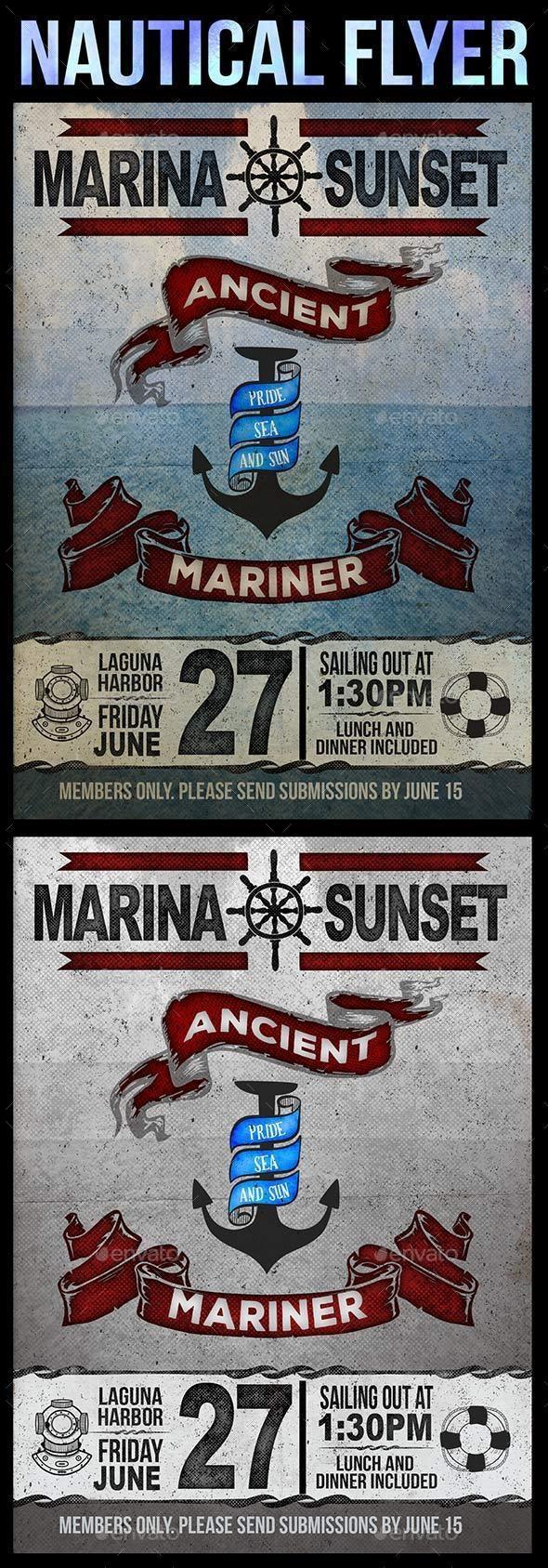 Nautical Flyer / Card - Print Templates