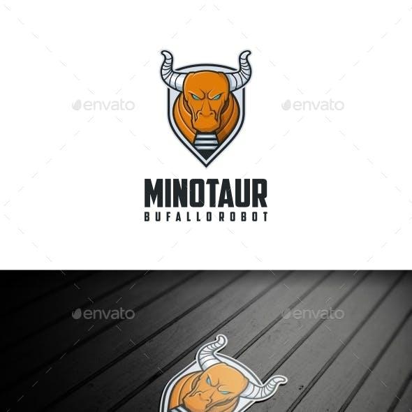 Minotaur Buffalo Logo Template