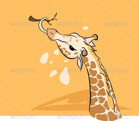 Giraffe Vector - Animals Characters