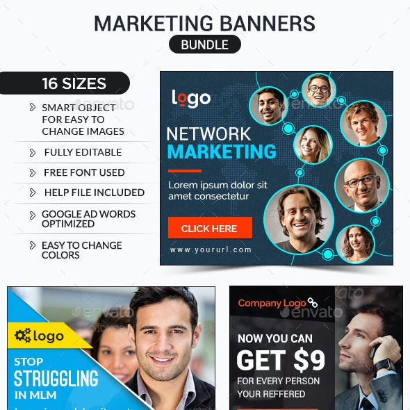 Marketing Banners Bundle - 3 Sets