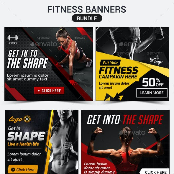 Fitness Banners Bundle - 4 Sets