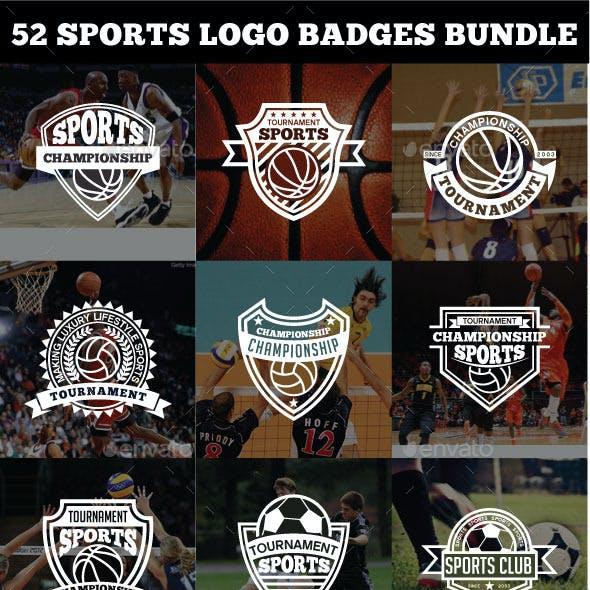 52 Sports Logo Badges Bundle