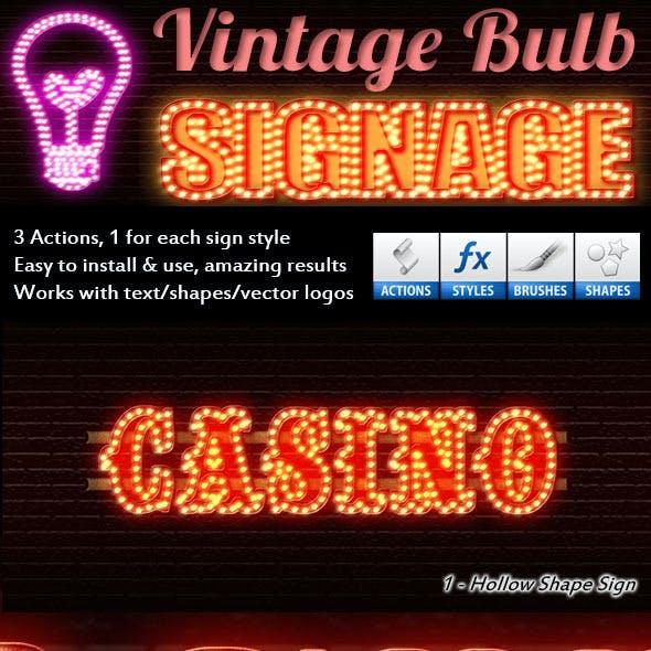 Vintage Bulb Signage Maker