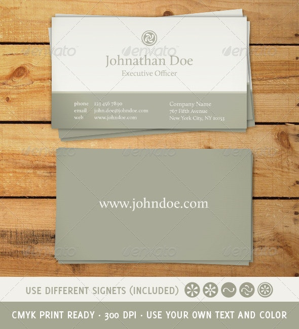 Classic and Elegant Business Card - Retro/Vintage Business Cards
