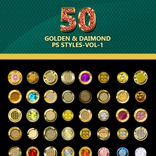 50-Golden and Diamond PS styles-vol-1