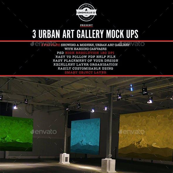 Urban Art Gallery Mockup
