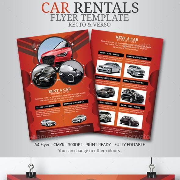 Rent Car Flyer Template