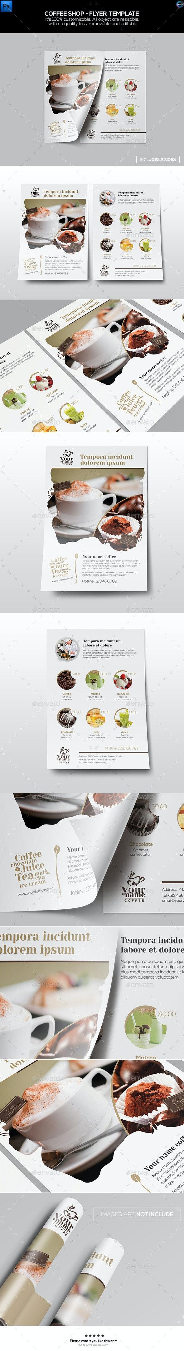 Coffee Shop - Flyer Template - Restaurant Flyers