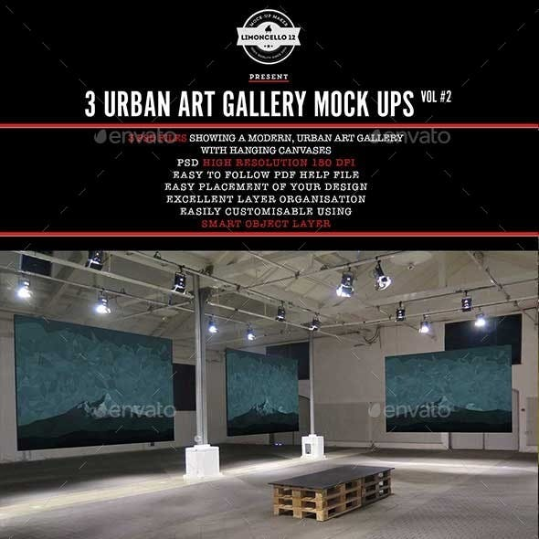 Urban Art Gallery Mockup Pt 2