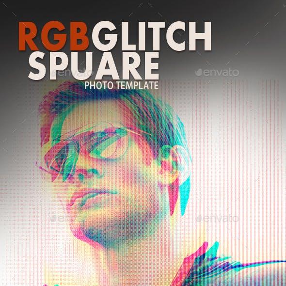 RGB-Glitch Spure Photo Templates