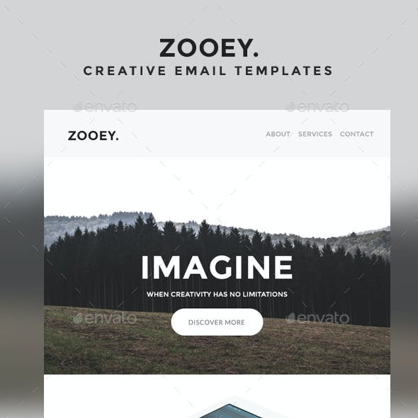 Zooey - Creative Email Templates