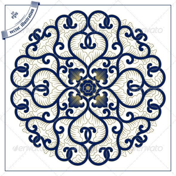 Asia Circle Lace Pattern - Patterns Decorative