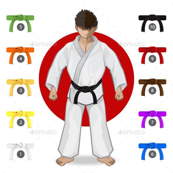 Karate Martial Arts Belt Rank System