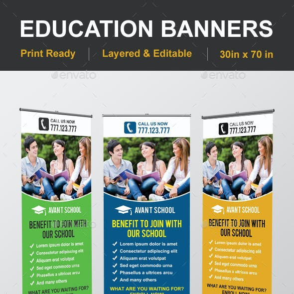 Education Banner Stationery And Design Templates