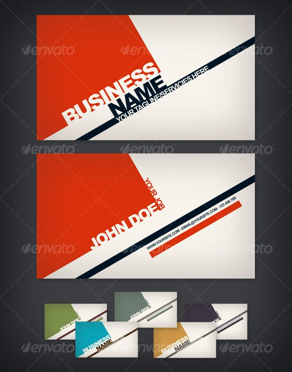 Triad Business Card Template - Creative Business Cards