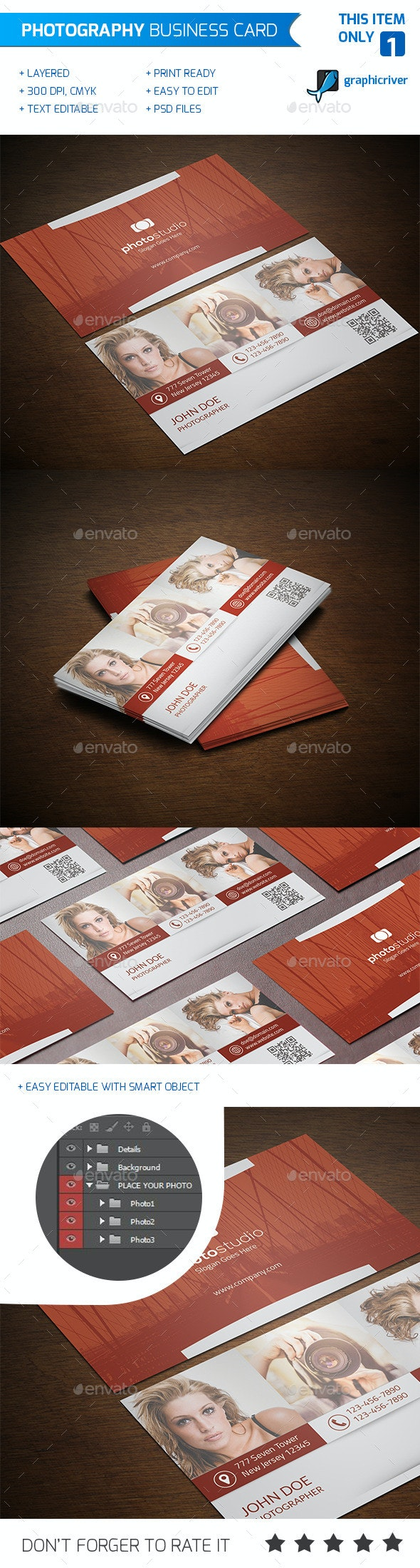 Photography Business Card - Industry Specific Business Cards