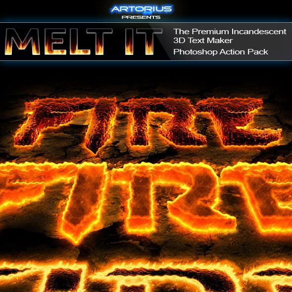Melt It - The Premium Incandescent 3D Text Maker