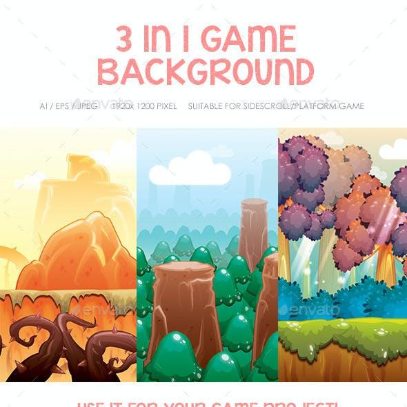 Hills, Forest & Dryland Game Background