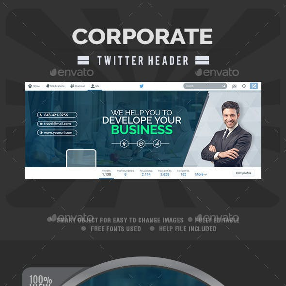Corporate Twitter Header