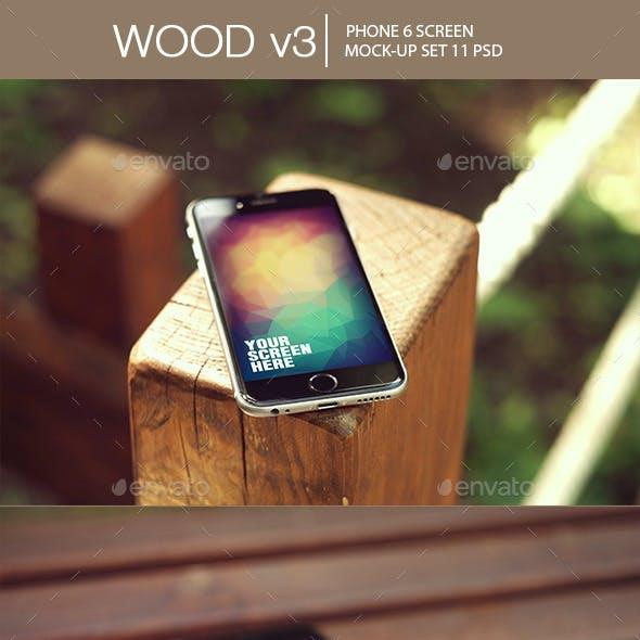 Wood v3 Phone 6 Mock-Up