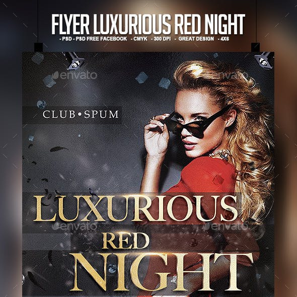 Flyer Luxurious Red Night