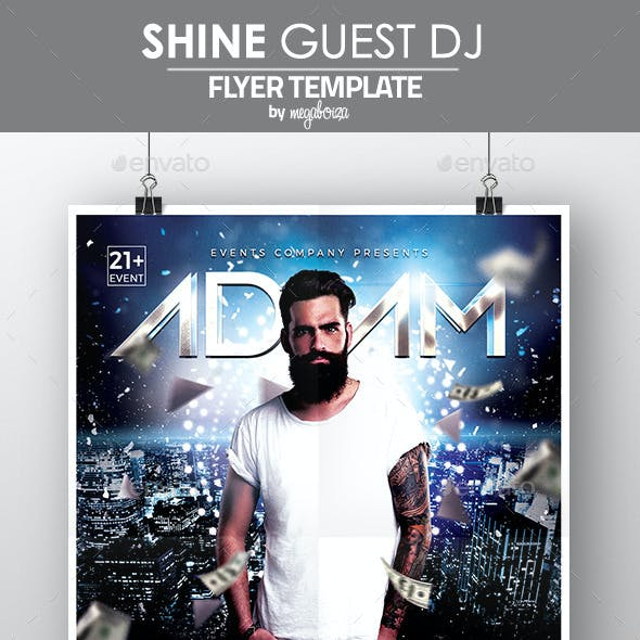 Shine Guest DJ Flyer / Poster Template