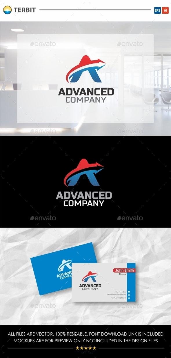 Letter A Arrow - Advanced Company - Company Logo Templates