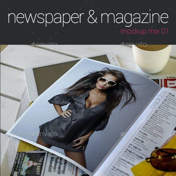 Advertising Space in Newspapers Mockup