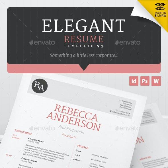 Elegant Resume/CV V1