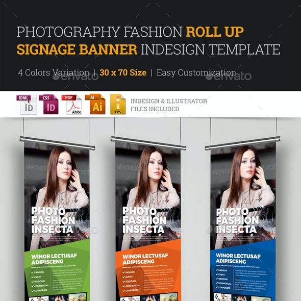 Photography Fashion Roll Up Banner Signage