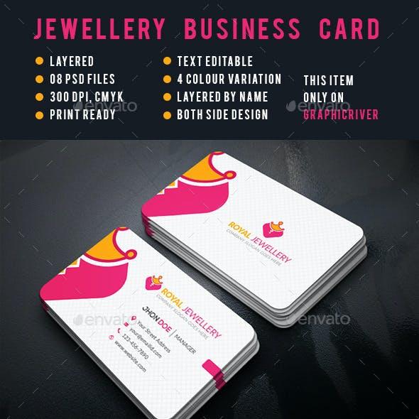 Jewellery Corporate Business Cards