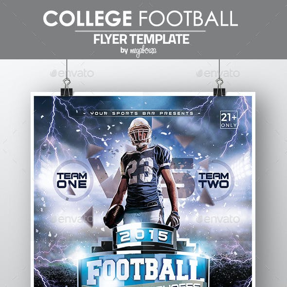 College Football Playoffs Flyer / Poster Template
