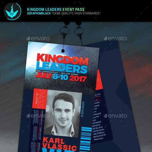 Kingdom Leaders Event Pass Template