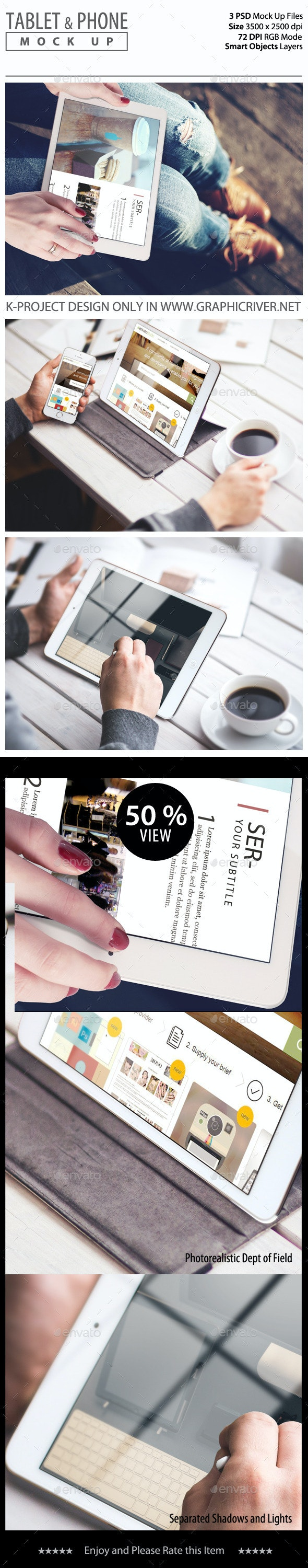 Tablet and Phone Mock Up - Mobile Displays