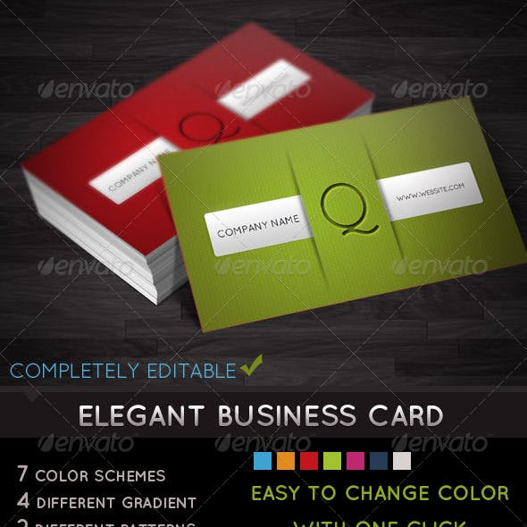 Elegant Business Card - With 7 Different Colors