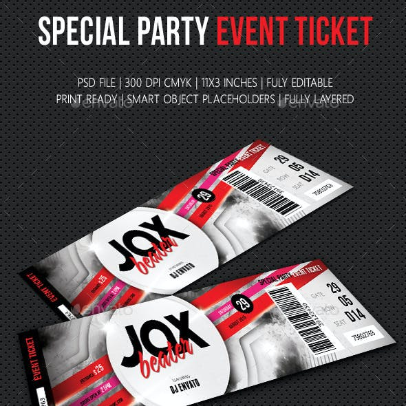 Special Party Event Ticket V04