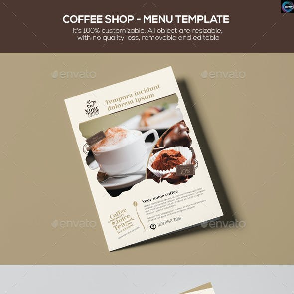 Coffee Shop - Menu Template