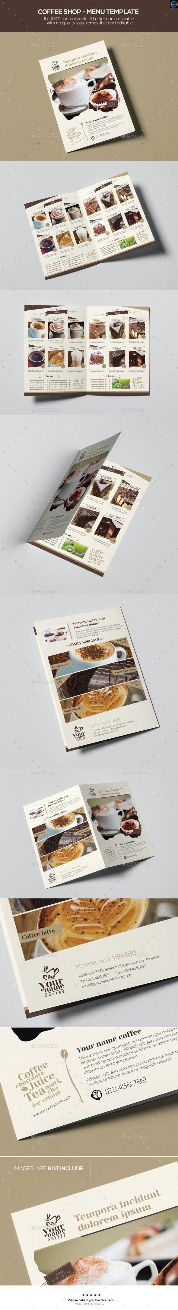 Coffee Shop - Menu Template - Food Menus Print Templates