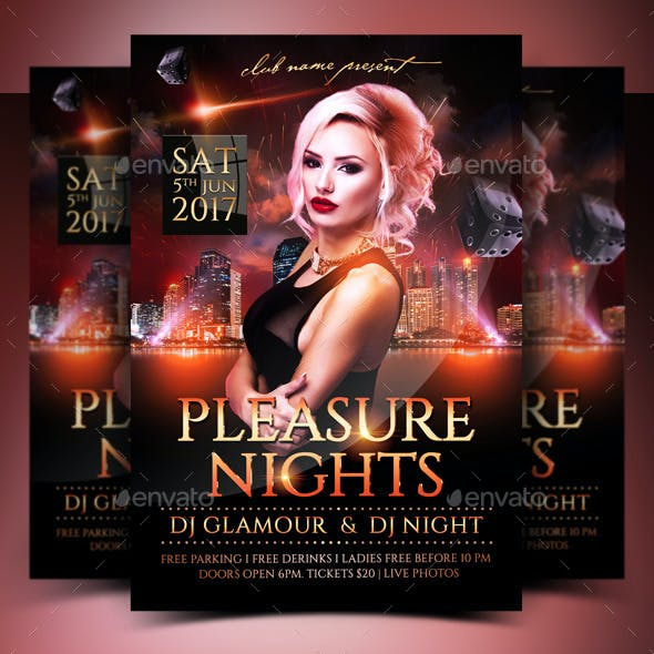 Pleasure Nights Flyer
