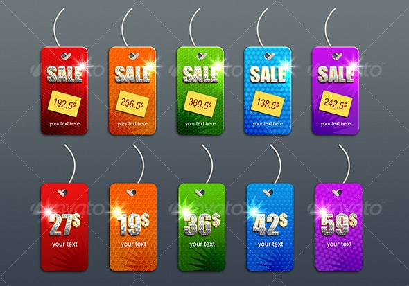 priceless sales tags - Web Elements