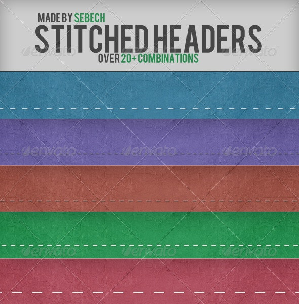 Stitched Headers - Miscellaneous Web Elements