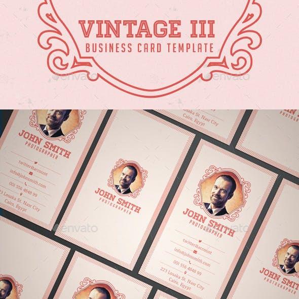 Vintage III Business Card Template
