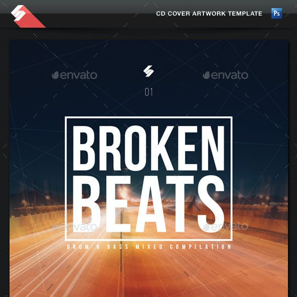 Broken Beats - CD Cover Artwork Template