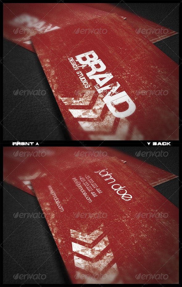 Urban Vision Business Card - Grunge Business Cards