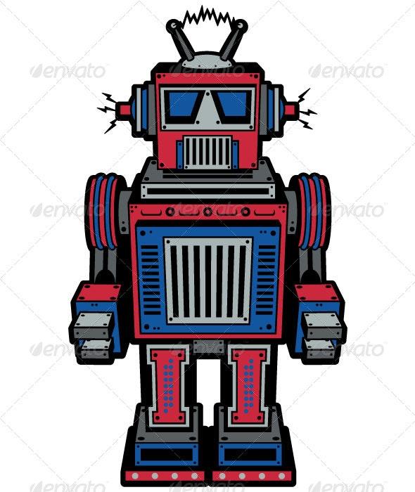 Toy Robot - Characters Vectors