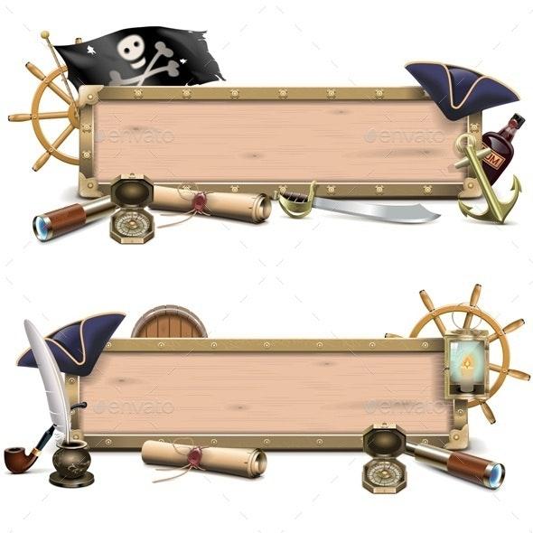 Vector Pirate Billboards - Miscellaneous Vectors